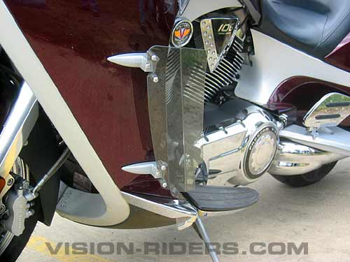 Louvers were developed mitigate heat on the rider legs